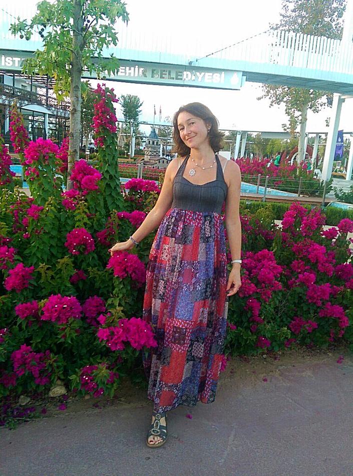 """Мои прекрасные заказчицы -цветущая и солнечная Женя в платьице из коллекции """"Лесная нимфа"""""""
