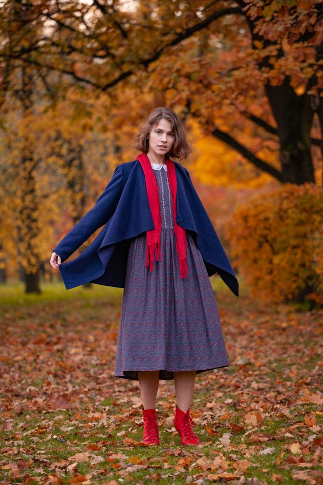 """Кардиган-пальто темно-синее. Коллекция """"Хюгге"""" комплект №9"""