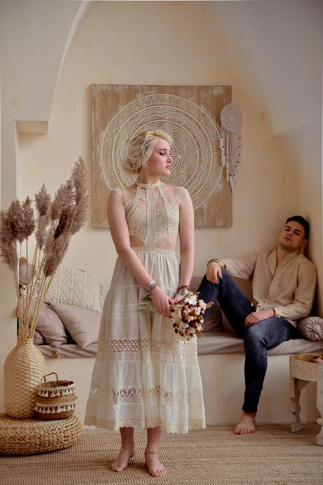 """Свадебное БОХО платье кружевное. Коллекция """"Самый важный день"""""""