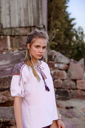 "Рубаха-вышиванка белая. Коллекция ""Gypsy Queen"""