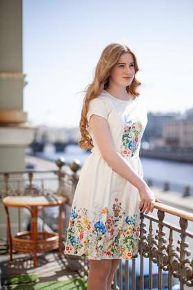 """Платье """"Свежесть утреннего луга"""". Коллекция """"Цветы жизни"""" №2."""