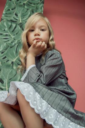 """Платье детское светло-серое. Коллекция """"Хюгге-кидс"""" № 3."""