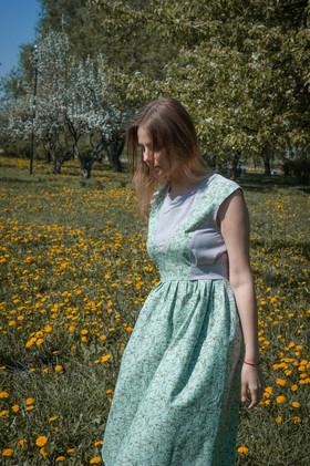 """Платье """"Первые листочки"""". Коллекция """"Хюгге"""" №16"""