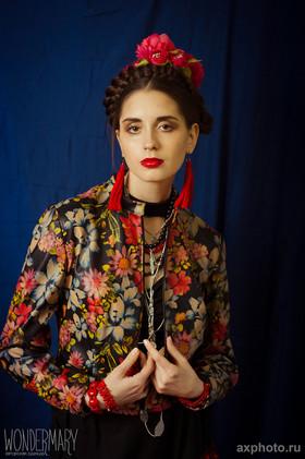 """Куртка из искусственной кожи с цветочным принтом. Коллекция """"Gypsy Queen"""""""