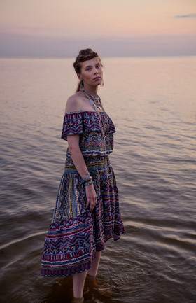 """Бохо-платье с этническим принтом. Коллекция """"Gypsy Queen"""""""