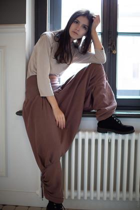 "Штаны-шаровары цвета какао. Коллекция ""Игра цвета"" №9"