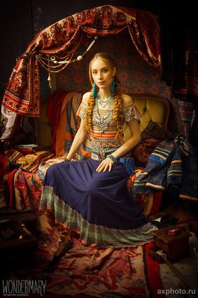 """Платье с поясом """"Босая танцовщица"""". Коллекция """"Gypsy Queen"""""""