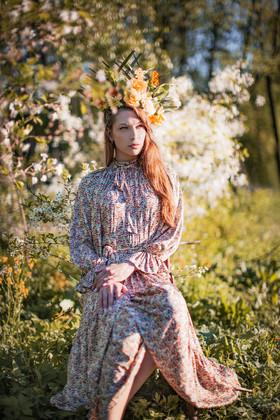 """Платье """"Цветочная королева"""". Коллекция """"Летние акварели""""."""