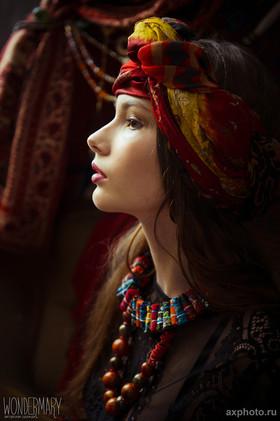"""Текстильные бусы """"Чешская Богемия"""". Коллекция """"Gypsy Queen"""""""