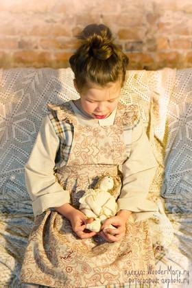 Льняной фартук детский