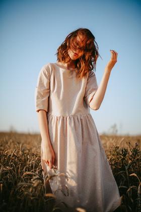 """Платье """"Пшеничное"""". Коллекция """"Хюгге"""" №33"""