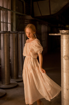 """Нежное батистовое платье. Коллекция """"Летние акварели""""."""