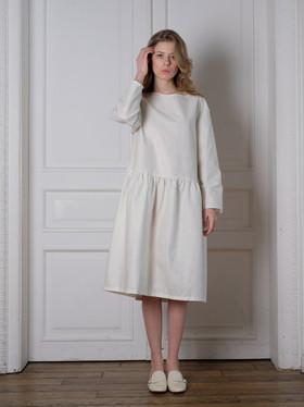 """Платье белое. Коллекция """"Хюгге"""" №33."""