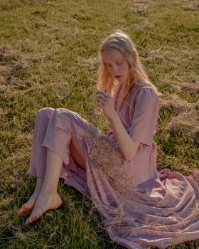 """Платье """"Летящее розовое"""". Коллекция """"Летние акварели""""."""