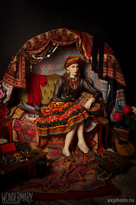 "Скрап-юбка ""Чешская Богемия"". Коллекция ""Gypsy Queen"""