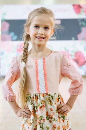 """Платье """"Юная цветочница"""" розовое. Коллекция """"Цветы жизни"""" №7"""