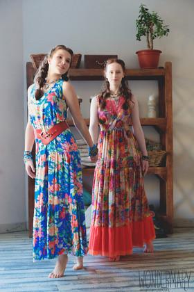 """Платье бирюзовое. Коллекция """"Yesterday"""" комплект №9"""