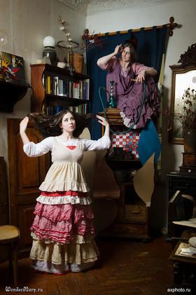 """Нижняя юбка """"Алиса"""" белая с вышивкой. Коллекция """"Безумное чаепитие"""""""